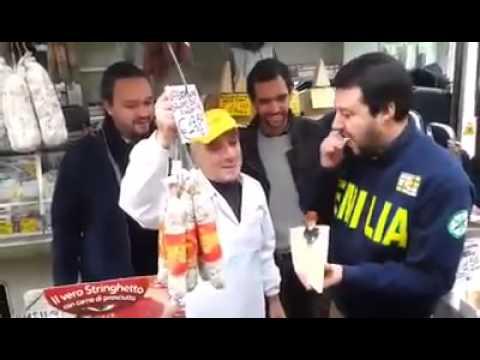 Emilia Romagna - Cortemaggiore - Matteo Salvini prima gli Emiliani