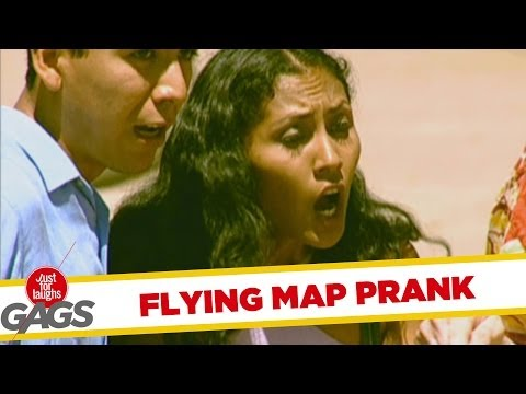 Flying Map Prank video