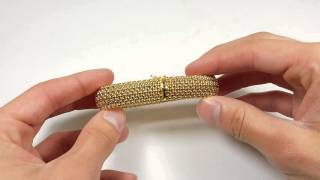 14kt gold mesh bracelet