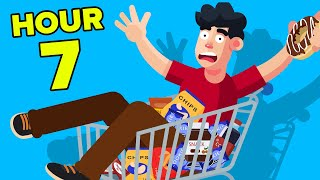 Spending 24 Hours In Grocery Store || FUNNY CHALLENGE & EXPERIMENT