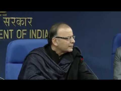 Shri Arun Jaitley addressing a Press Conference on Pradhan Mantri Jan Dhan Yojana