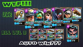 WTF!! USE COMBINATION LEGENDARY CARD AUTO WIN??? [CLASH ROYALE]