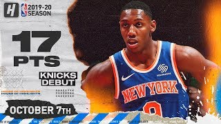 RJ Barrett IMPRESSIVE Knicks Debut Highlights vs Wizards | October 7, 2019
