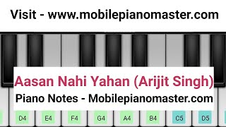 Aasan Nahin Yahan piano Tutorial|Piano Keyboard|Piano Lessons|Piano Music|learn piano Online|Mobile