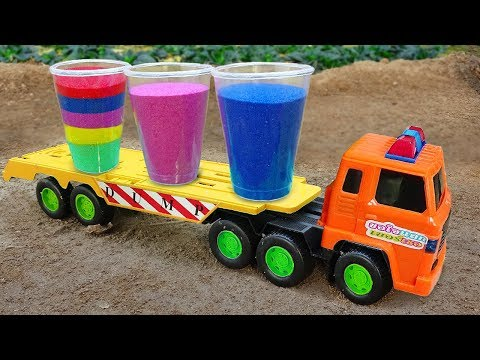 Learn Colors and Dinosaurs | Fine Toys Construction Vehicles Toys for Kids