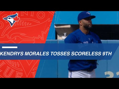 Kendrys Morales tosses a scoreless 9th
