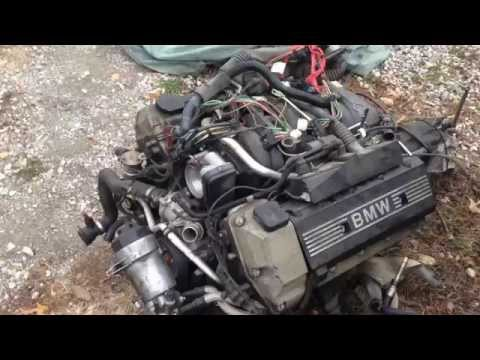 BMW 540i-6 M62 M62tu 4.4l v8 Engine removal from a e39 540i or e38 740i