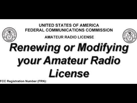 Renewing or Modifying your Amateur Radio License