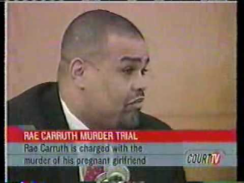a review of the story of rae carruths murder Carruth was acquitted friday of first-degree murder punishable by death in the shooting of cherica adams in november 1999, but was convicted of conspiracy to commit murder, discharging a firearm into occupied property and use of an instrument to kill an unborn child.