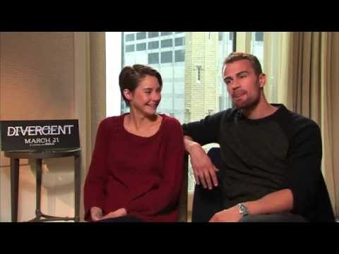 Shailene Woodley and Theo James Talk 'Divergent' In Theaters March 21st