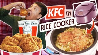 Trying KFC FRIED CHICKEN in RICE COOKER Hack & My Typical Day Staying Home