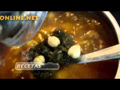 Potaje de judías, garbanzos y espinacas - Recetas de cocina RECETASonline
