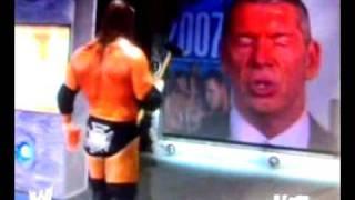 Triple H destroy's the titantron