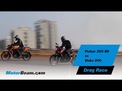 Pulsar 200 NS vs Duke 200 - Drag Race