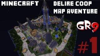 GamesRetro9 sur Minecraft // En délire sur une map aventure // Episode #1