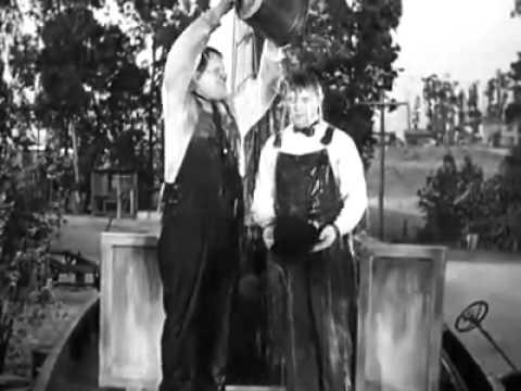 Oliver Hardy and Stan Laurel-Ice bucket challenge