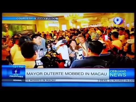 Duterte mobbed in Macau