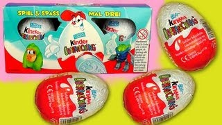 Old -2007- Kinder Surprise 3 Kinder Surprise Unboxing