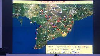 Giới thiệu bản đồ sạt sở bờ sông, xói lở bờ biển vùng đồng bằng sông Cửu Long