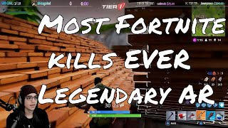 Most Fortnite solo kills ever. You wont believe how lucky I get. BEST AR IN THE GAME