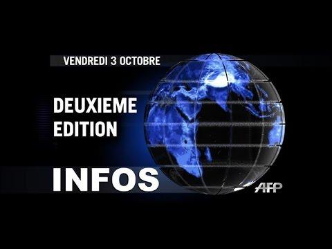 AFP - Le JT, 2e édition du vendredi 3 octobre