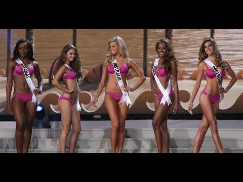 Candidatas a Miss Universe desfilan en traje de baño