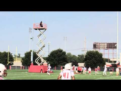 Offense vs Defense First Louisville Football Practice 2014