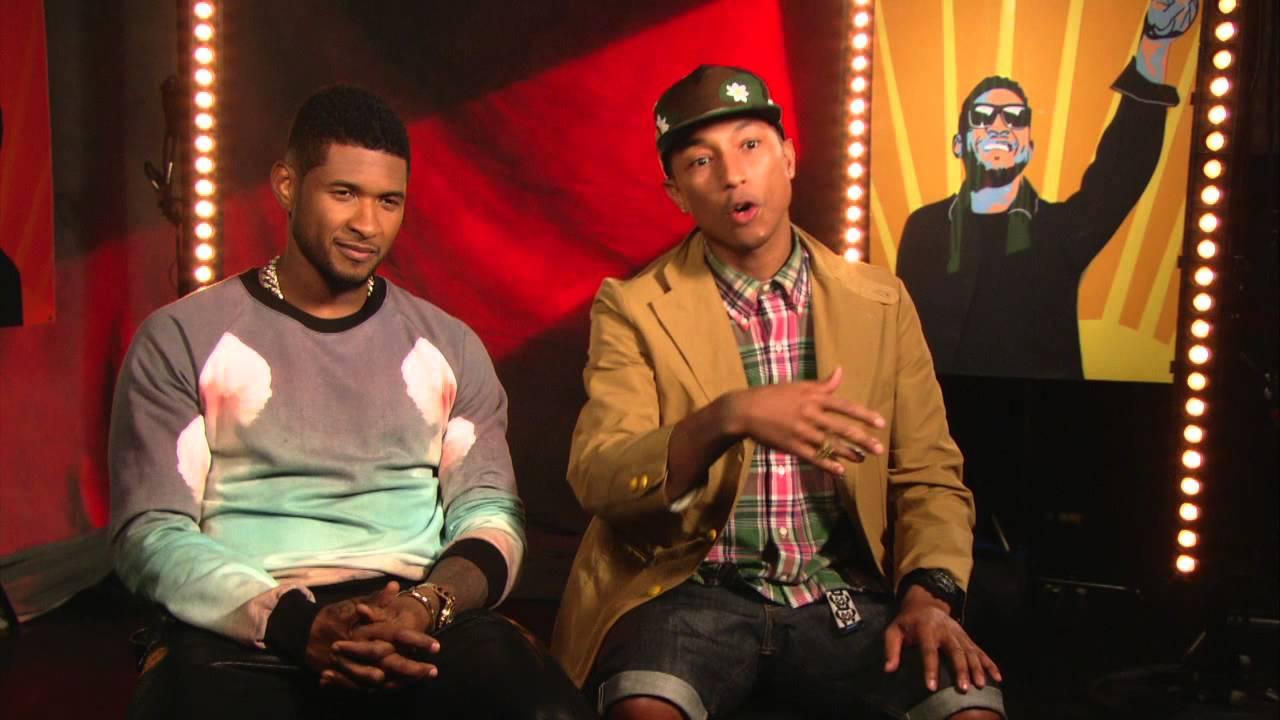 Usher Underwear Usher and Pharrell Williams