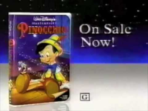 Disney's Pinocchio VHS commercial - 1993 - YouTube