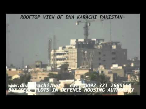 ROOFTOP VIEW OF DHA  DEFENCE KARACHI PAKISTAN PROPERTIES AND REALESTATE