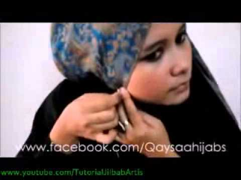 Tutorial hijab Simple Cross Style using pashmina