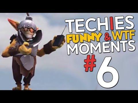 Techies WTF & Funny Moments #6 - DotA 2 + ARCANA