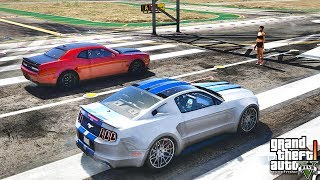GTA 5 REAL LIFE MOD #407 MUSCLE CAR RACE !!! (GTA 5 REAL LIFE MODS)