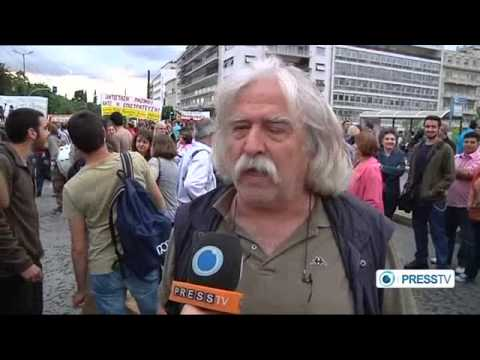 Greek government outlaws teachers' strike - Part 1