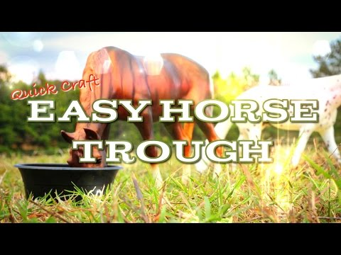 Fabsome Horses Quick Craft: Easy Horse Trough