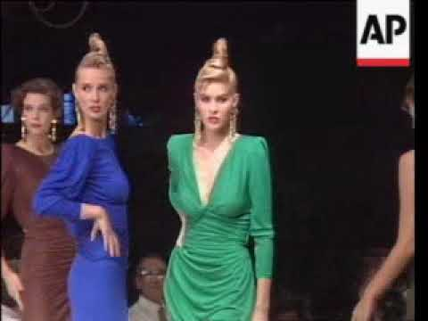Fashion designer Emanuel Ungaro displays Summer fashions for next year concentrating on tight figue