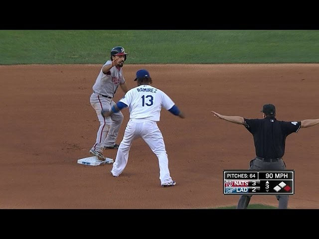 WSH@LAD: Nats show off speed with four stolen bases