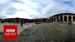 What's left of Aleppo's Great Mosque? (360 video) BBC News