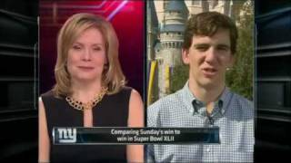 Eli Manning at Disney World - SportsCenter (02-07-2012)