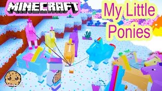 Cookieswirlc Minecraft Game Play Finding My Little Pony Horses Let