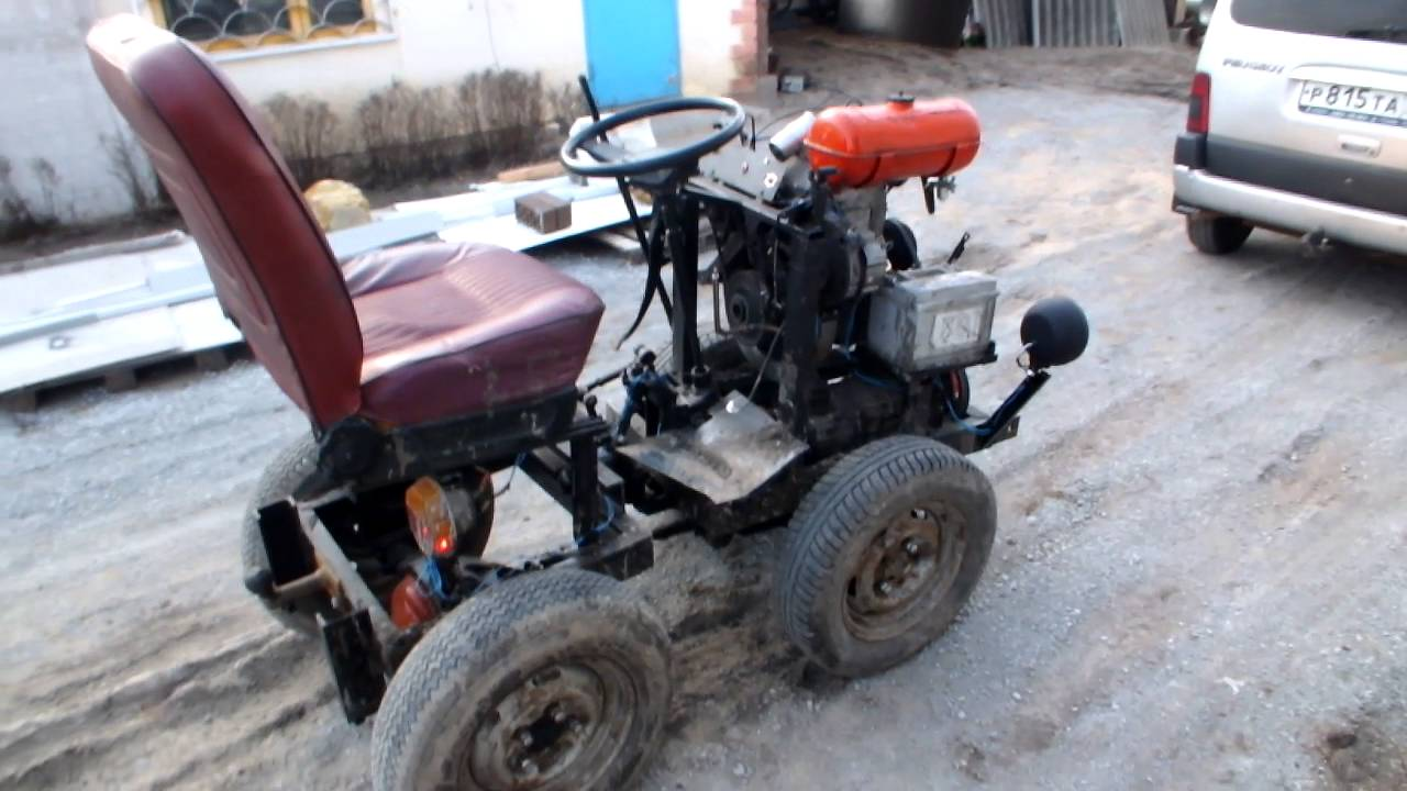 Трактор своими руками с мотором зид
