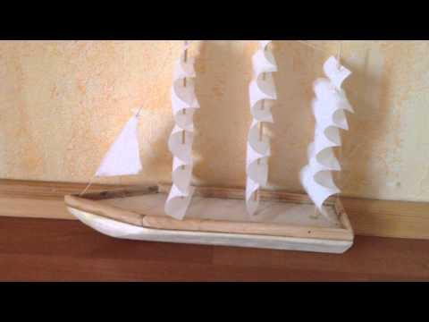 Как сделать кораблик из дерева своими руками видео