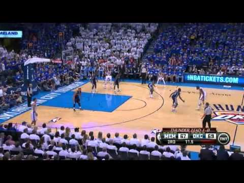 NBA CIRCLE - Memphis Grizzlies Vs Oklahoma City Thunder Game 2 Highlights - 7 May 2013 NBA Playoffs