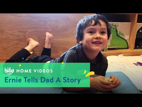 Ernie Tells Dad a Story | Home Videos | HiHo Kids