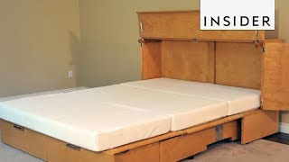 Cabinet Turns Into Bed