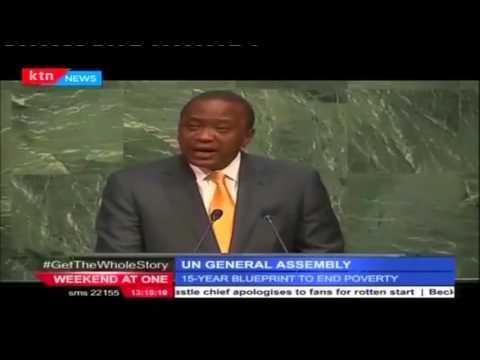President Uhuru Kenyatta's adress at UNGA in New York City