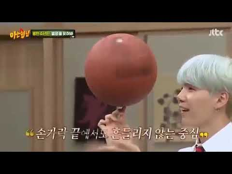 170923 Suga Spinning A Ball || BTS On Knowing Brother