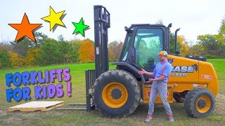 Learn about Forklifts with Blippi | Construction Trucks for Children
