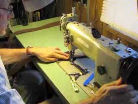 0 Sewing Suede Lined Leather Rifle Slings on a Walking Foot Machine