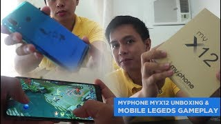 MyPhone myX12 unboxing and Mobile Legends gameplay